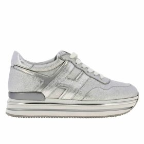 Hogan Sneakers Hogan Sneakers In Laminated And Mirrored Leather With Sole 222