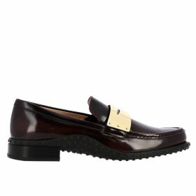 Tods Loafers Tods Loafers In Brushed Leather With Metal Mask And Rubber Sole