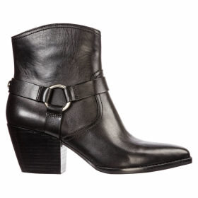 Michael Kors Leather Heel Ankle Boots Booties