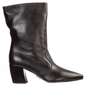 Prada Leather Heel Boots