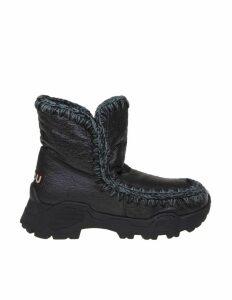 Mou Sneakers Eskimo Trainer In Wool Color Black