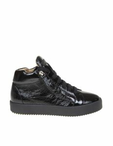 Giuseppe Zanotti Design May Sneakers In Bright Leather Color Black