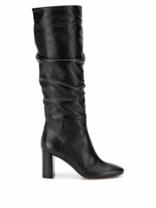 L'Autre Chose gathered tall boots - Black