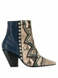 Toga Pulla zig-zag ankle boots - Blue