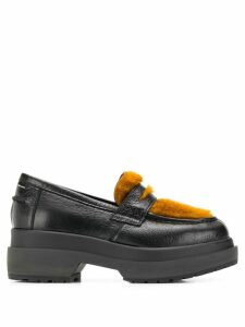 Mm6 Maison Margiela faux-fur trim loafers - Black
