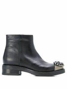 Albano crystal embellished boots - Black