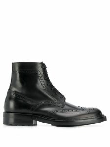 Saint Laurent brogue detail boots - Black