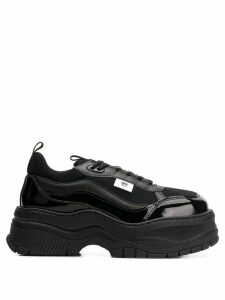 Chiara Ferragni platform lace-up sneakers - Black