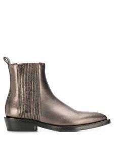 Brunello Cucinelli ankle boots - Metallic