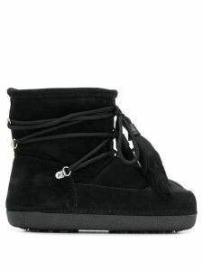 Dsquared2 suede snowboots - Black