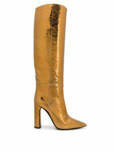 Casadei knee high boots - GOLD