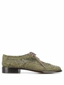 Clergerie paille lace up shoes - Green