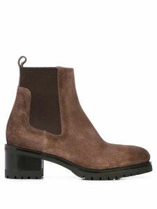 Santoni block heel ankle boots - Brown