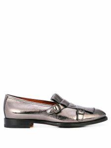 Santoni metallic loafers - SILVER