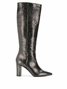 Marc Ellis embossed metallic boots - Silver