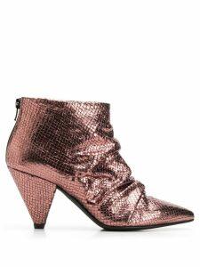Marc Ellis snakeskin effect ankle boots - Metallic