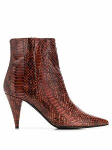 Marc Ellis embossed pointed boots - Brown