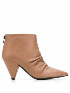 Marc Ellis pointed toe ankle boots - NEUTRALS
