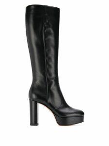 Gianvito Rossi heeled Dominique boots - Black