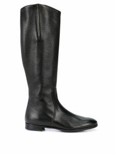 Gravati knee-length zipped boots - Black