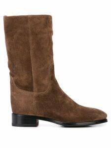 Santoni classic slip-on boots - Brown