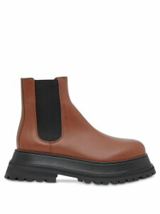 Burberry Leather Chelsea Boots - Brown