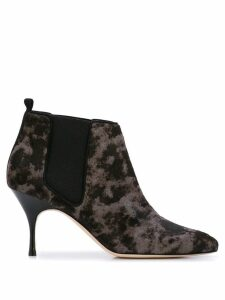 Manolo Blahnik contrast ankle boots - Black