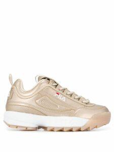 Fila Disruptor metallic sneakers - Gold