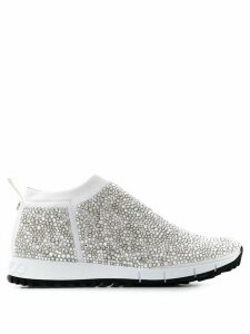 Jimmy Choo Norway sequin sneakers - SILVER