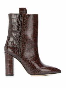 Paris Texas croco-effect boots - Brown