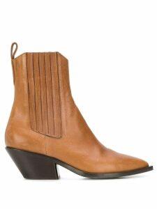 A.F.Vandevorst cuban heel ankle boots - Neutrals