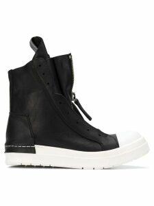 Cinzia Araia hi-top zipped sneakers - Black