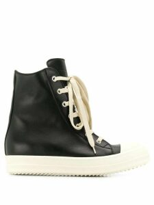 Rick Owens larry leather sneakers - Black