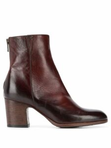 Pantanetti stacked heel ankle boots - Brown