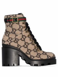 Gucci GG pattern 70mm ankle boots - Neutrals