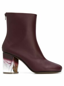 Maison Margiela crushed heel ankle boots - Brown