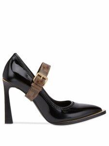 Fendi Mary Jane FFrame court shoes - Black