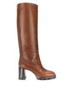 Prada knee-high boots - Brown