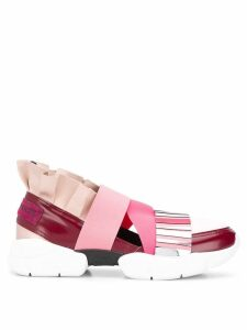 Emilio Pucci City Up Colourblock Ruffled Sneakers - Pink