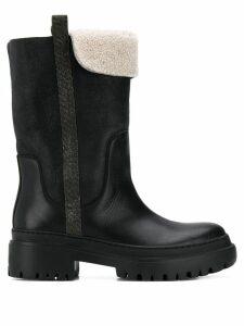 Brunello Cucinelli shearling boots - Black