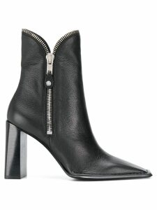 Alexander Wang zip detail ankle boots - Black