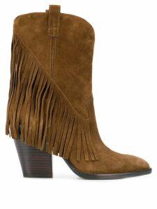 Ash Elison fringed boots - Brown