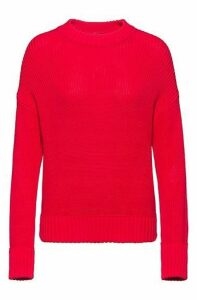 Relaxed-fit knitted sweater in pure cotton