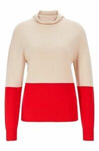 Seamless colour-block sweater in pure cashmere