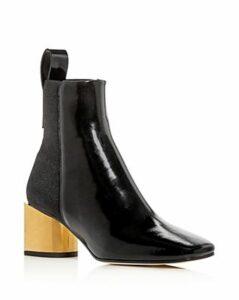 Proenza Schouler Women's Square-Toe Block-Heel Booties