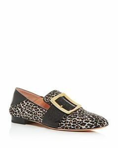 Bally Women's Janelle Leopard-Print Calf Hair Smoking Slippers
