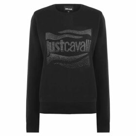 Just Cavalli Embellished Logo Sweatshirt