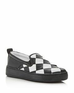 Bottega Venetta Women's Woven Slip-On Sneakers