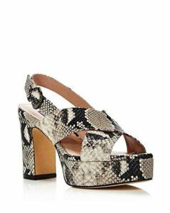 Stuart Weitzman Women's Jerry Embossed Platform Sandals