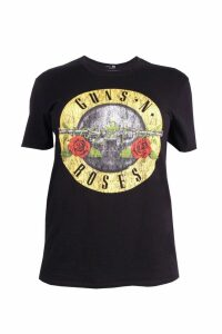 Womens Plus Guns N Roses License T-Shirt - black - 20, Black